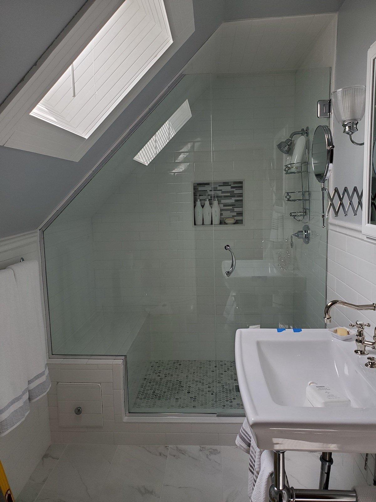 Shower Enclosure Lights Off